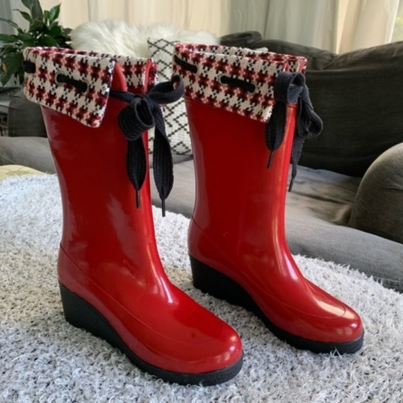Sperry Shoes | Red Top Sider Rain Boots